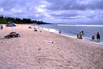die zweite Bucht des Strandes Boucan Canot, Réunion