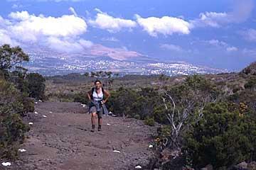 auf dem Weg zum Grand Bénare, Réunion