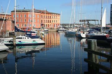 am Hafen in Waren an der Müritz, Mecklenburg-Vorpommern
