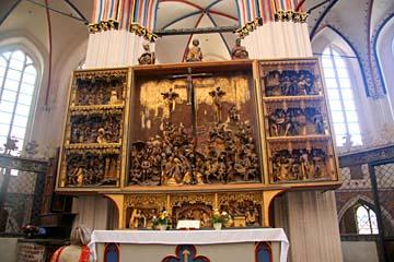 Altarbild in der Nikolaikirche in Stralsund, Mecklenburg-Vorpommern