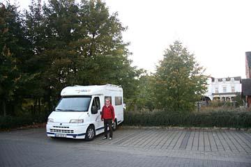 am Übernachtungsplatz in Putbus, Insel Rügen