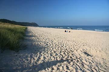 breiter Strand beim Seebad Baabe, Insel Rügen