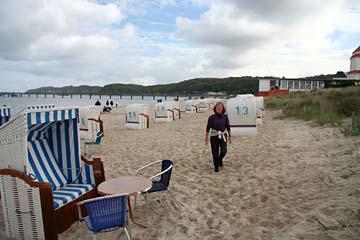 am Strand im Seebad Binz, Insel Rügen