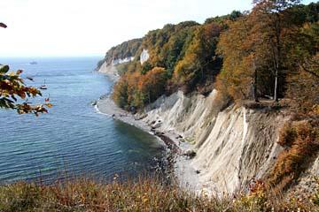 Kreideküste im Osten der Insel Rügen