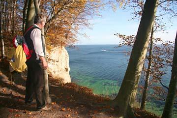 Blick zur Kreideküste und Ostsee, Insel Rügen