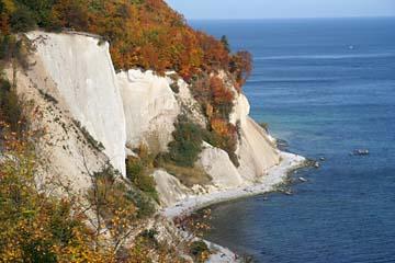 Kreidefelsen im Osten der Insel Rügen