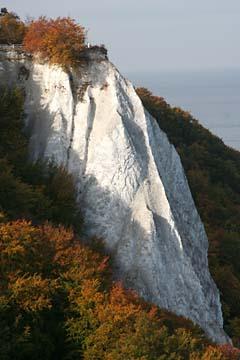 Blick zum Kreidefelsen Königsstuhl im Osten von Rügen