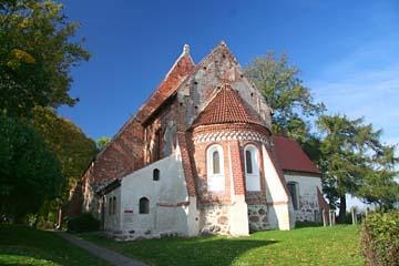 gotische Backsteinkirche in Altenkirchen, Nordrügen