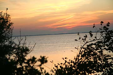 Sonnenuntergang am Campingplatz Schaprode, Rügen