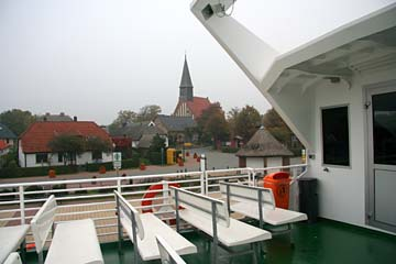 Rückblick vom Schiff auf Schaprode, Rügen