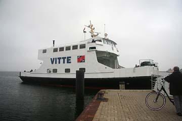 """Fährschiff """"Vitte"""" zwischen Vitte/Hiddensee und Schaprode/Rügen"""