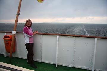 auf der Fähre zwischen Hiddensee und Rügen