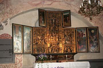 Antwerpener Schnitzaltar in der Kirche von Waase, Insel Ummanz, Rügen