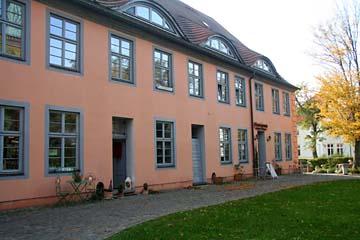 Klosterhof mit Cafe in Bergen, Insel Rügen
