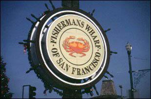 die bekannte Fishermans Wharf in San Francisco