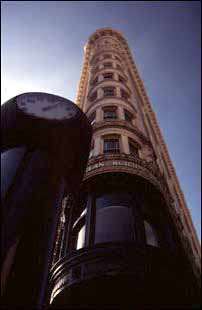 markante Gebäude an der Market Street, San Francisco, USA