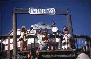 am Pier 39 in der Fishermans Wharf in San Francisco