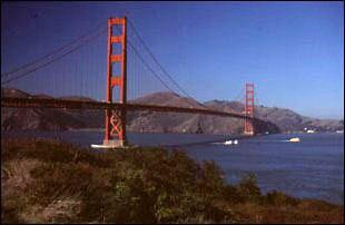 die Golden Gate Bridge vom Fußweg San Francisco, USA