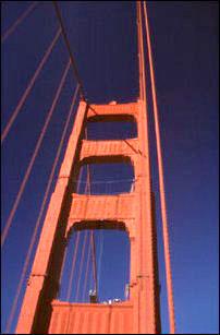ein Pylon der Golden Gate Bridge, San Francisco, Kalifornien