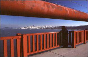 das über einen Meter dicke Seil der Golden Gate Bridge, San Francisco