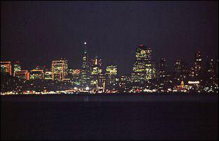 die Skyline von San Francisco von Sausolito aus gesehen