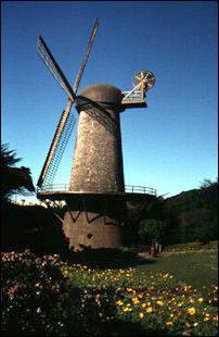 die Dutch Windmill am Rand des Golden Gate Park, San Francisco