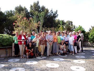 Gruppenfoto der Ausflugsfahrt nach San Remo