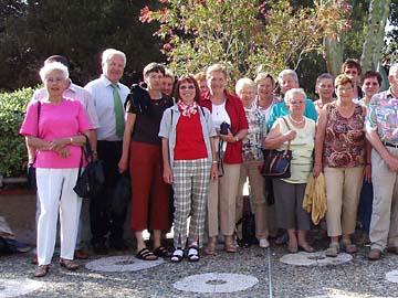 Ausschnitt Gruppenfoto der Ausflugsfahrt nach San Remo