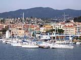 Der Yacht-Hafen von San Remo an der italienischen Blumenriviera