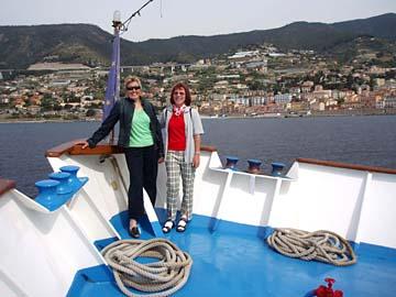 auf dem Schiffsausflug in San Remo, Ligurien
