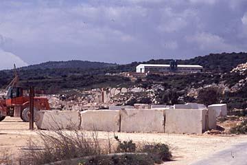 Marmorbrüche bei Orosei, Sardinien