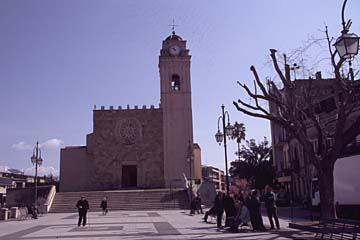 die Pfarrkirche San Nicola di Mira in Guspini auf Sardinien