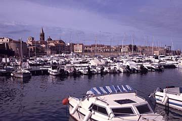 Alghero, wichtigster Hafen- und Handelsplatz im Westen von Sardinien, Italien