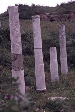 eine Ausgrabungsstätte bei Porto Torres auf Sardinien, Italien
