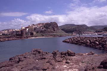 Castlelsardo auf Sardinien, Italien