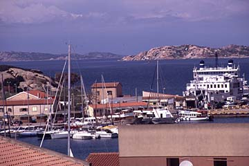 der Fischerhafen von Palau auf Sardinien, Italien