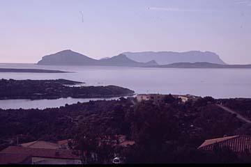Aussicht auf die Costas Smeralda auf Sardinien, Italien