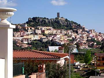 die Burgruine Fava bei Posada auf Sardinien, Italien