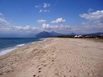 Strand bei Marina de Orosei, Sardinien