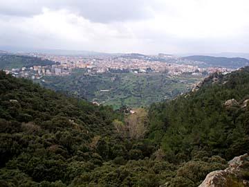 Aussicht vom Mt. Ortobene bei Nuoro, Sardinien