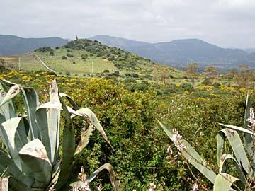 Landschaft bei Villaputzu, Sardinien