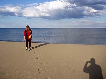 der Strand bei Torre Salinas auf Sardinien, Italien