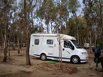 auf dem Campingplatz 4Mori bei Muravera, Sardinien