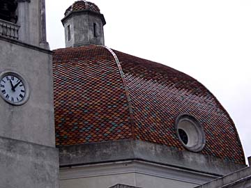 die Kirche Santa Barbara in Burcei auf Sardinien, Italien