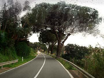 Straße nach Iglesias auf Sardinien, Italien
