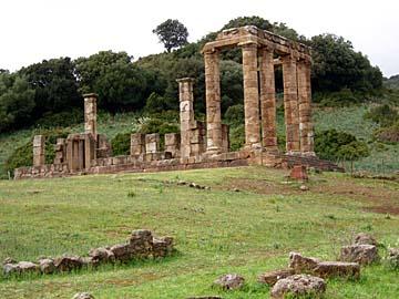 der Tempel Antas bei Iglesias im Westen von Sardinien, Italien