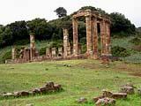 Der Tempel Antas bei Iglesias im Westen von Sardinien in Italien