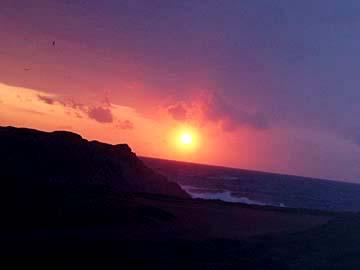 Sonnenuntergang auf Sardinien, Italien