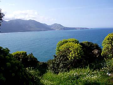 Blick auf die Costa Verde im Westen von Sardinien, Italien