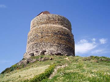der Torre San Giovanni bei Tharros im Westen von Sardinien, Italien